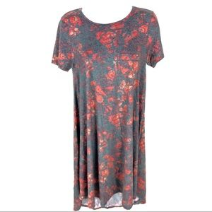 Lularoe Womens Gray Pink Maxi Dress XXS